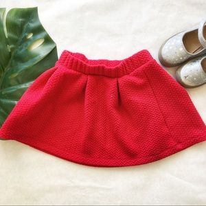 Cat & Jack Girls Red Quilted Skater Skirt Size XS